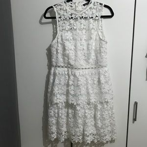 White Lace Boohoo Dress